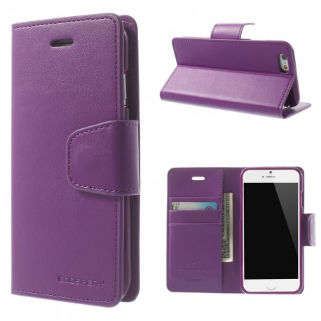 Apple iPhone 6 - etui na telefon i dokumenty - Sonata purpurowe