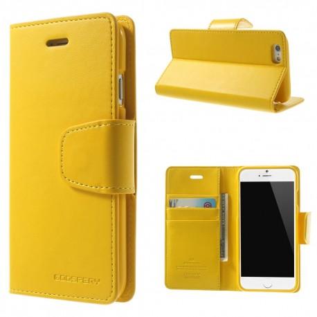 Apple iPhone 6 - etui na telefon i dokumenty - Sonata żółte