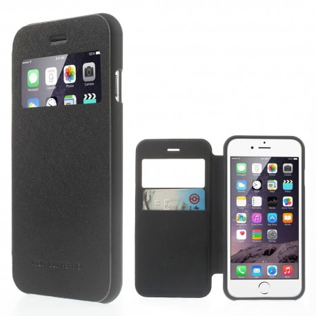Apple iPhone 6 - etui na telefon i dokumenty - Wow Bumper czarne