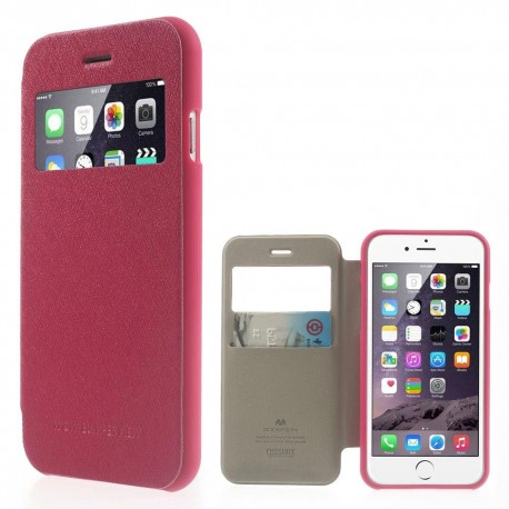 Apple iPhone 6 - etui na telefon i dokumenty -Wow Bumper ciemnoróżowe