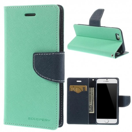 Apple iPhone 6 - etui na telefon i dokumenty - Fancy cyjan