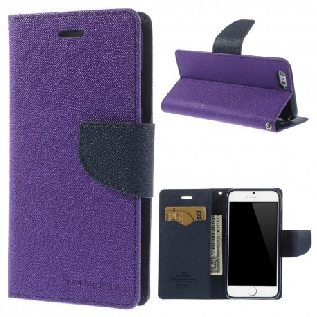 Apple iPhone 6 - etui na telefon i dokumenty - Fancy purpurowe