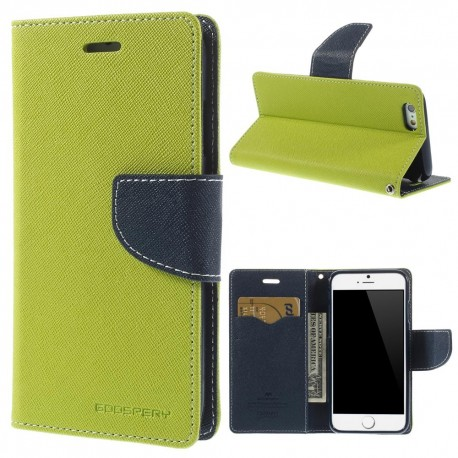 Apple iPhone 6 - etui na telefon i dokumenty - Fancy zielone