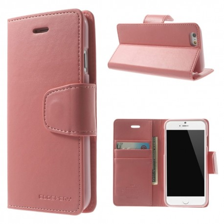 Apple iPhone 6 - etui na telefon i dokumenty - Sonata różowe