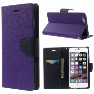 Apple iPhone 6 Plus - etui na telefon i dokumenty - Fancy purpurowe