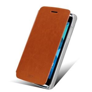 Alcatel One Touch Idol Alpha - etui na telefon i dokumenty - MOFI Rui brązowe