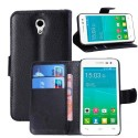 Alcatel One Touch Pop S3 Etui – Litchi Czarne