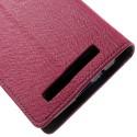 Asus Zenfone 4 Portfel Etui – Fancy Ciemny Różowy