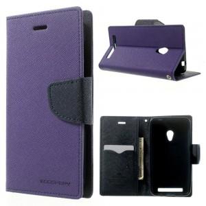 Asus Zenfone 4 - etui na telefon i dokumenty - Fancy purpurowe