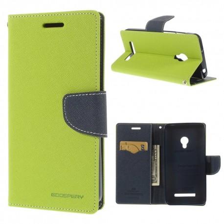 Asus Zenfone 5 - etui na telefon i dokumenty - Fancy zielone