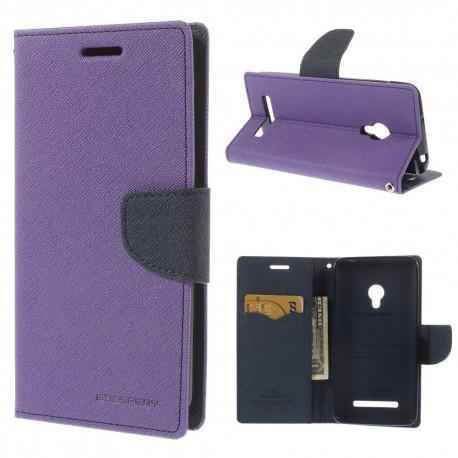 Asus Zenfone 5 - etui na telefon i dokumenty - Fancy purpurowe