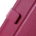 HTC Desire 820 Portfel Etui – Lychee Ciemny Różowy