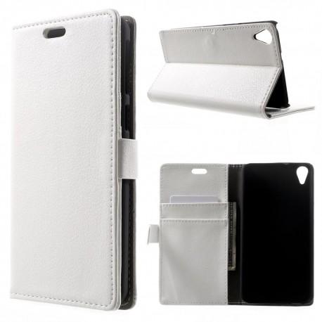 HTC Desire 820 - etui na telefon i dokumenty - Lychee białe V