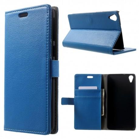 HTC Desire 820 - etui na telefon i dokumenty - Lychee niebieskie