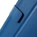 HTC Desire 820 Portfel Etui – Lychee Niebieski