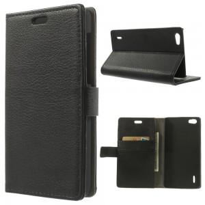 Huawei Honor 6 - etui na telefon i dokumenty - Litchi czarne V