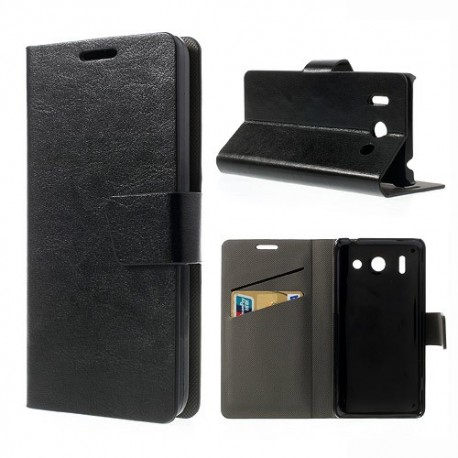 Huawei Ascend G510 - etui na telefon i dokumenty - CH czarne