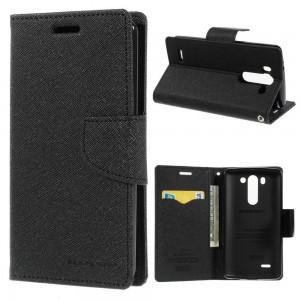 LG G3 S - etui na telefon i dokumenty - Fancy Goospery czarne