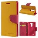 LG G3 S Portfel Etui – żółty Goospery Fancy