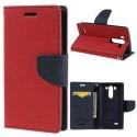 LG G3 S Portfel Etui – Czerwony Goospery Fancy