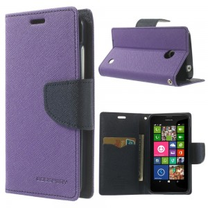 Nokia Lumia 630 / 635 - etui na telefon i dokumenty - Fancy purpurowe
