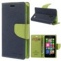 Nokia Lumia 630 / 635 Portfel Etui – Fancy Niebieski