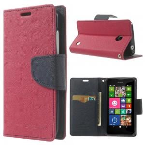 Nokia Lumia 630 / 635 - etui na telefon i dokumenty - Fancy ciemnoróżowe