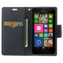 Nokia Lumia 630 / 635 Portfel Etui – Fancy Ciemny Różowy