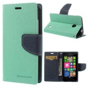 Nokia Lumia 630 / 635 - etui na telefon i dokumenty - Fancy cyjan