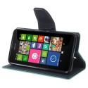 Nokia Lumia 630 / 635 Portfel Etui – Fancy Cyjan