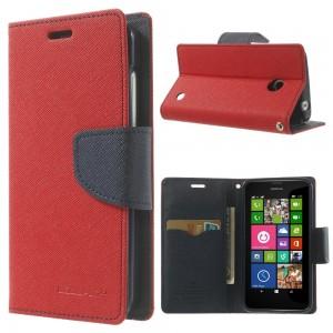 Nokia Lumia 630 / 635- etui na telefon i dokumenty - Fancy czerwone