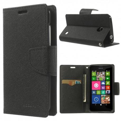 Nokia Lumia 630 / 635 - etui na telefon i dokumenty - Fancy czarne