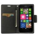 Nokia Lumia 630 / 635 Portfel Etui – Fancy Czarne