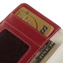 Nokia Lumia 530 Portfel Etui - Litchi Czerwony