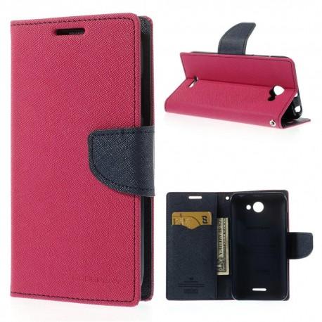 HTC Desire 516 - etui na telefon i dokumenty - Fancy cimnoróżowe