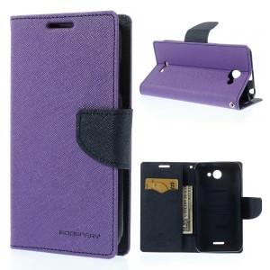 HTC Desire 516 - etui na telefon i dokumenty - Fancy purpurowe