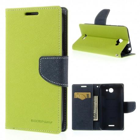 HTC Desire 516 - etui na telefon i dokumenty - Fancy zielone