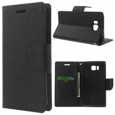 Samsung Galaxy Alpha - etui na telefon i dokumenty - Fancy czarne