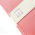 Uniwersalny Portfel Etui 13,2x7cm – Różowy / Białe