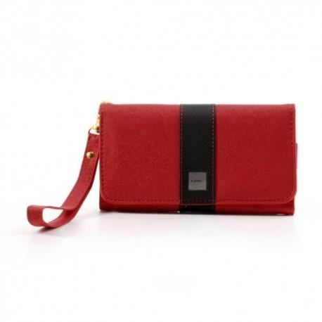 Uniwersalny Portfel Etui 13,2x7cm – Czerwony / Czarne