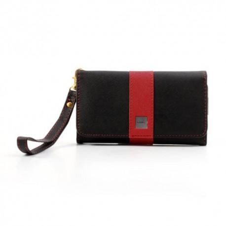 Uniwersalny Portfel Etui 13,2x7cm – Czarne / Czerwony