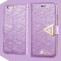 Apple iPhone 6 - etui na telefon i dokumenty - Leiers Eternal purpurowe