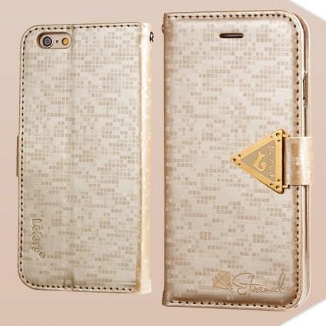 Apple iPhone 6 - etui na telefon i dokumenty - Leiers Eternal złote V