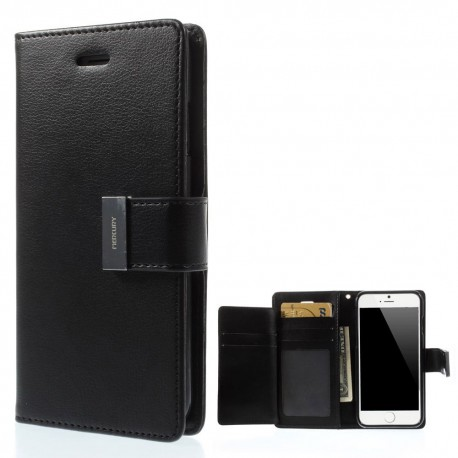 Apple iPhone 6 - etui na telefon i dokumenty - Rich Diary czarne V