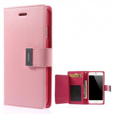 c6c534e43ef90 Apple iPhone 6 - etui na telefon i dokumenty - Rich Diary różowe V ...