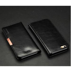 Apple iPhone 6 - etui na telefon i dokumenty - KLD Royale II skórzane czarne