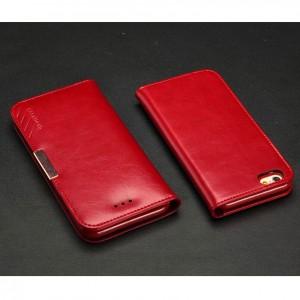 Apple iPhone 6 - etui na telefon i dokumenty - KLD Royale II skórzane czerwone