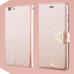 Apple iPhone 6 Plus - etui na telefon i dokumenty - Leiers Eternal różowe