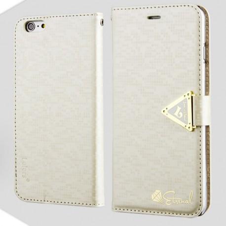 Apple iPhone 6 Plus - etui na telefon i dokumenty - Leiers Eternal białe