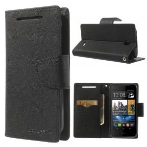 HTC Desire 310 - etui na telefon i dokumenty - Fancy czarne